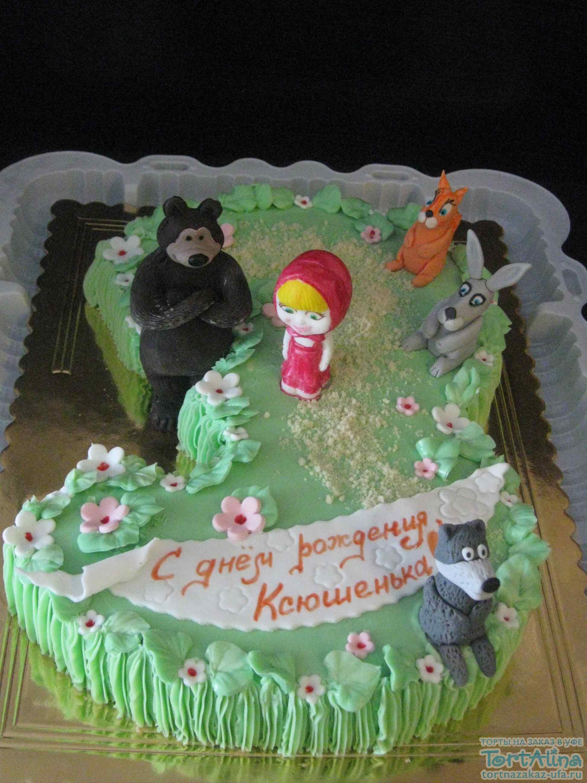 Торт девочки на три года