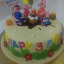 Торт семья свинки пеппы
