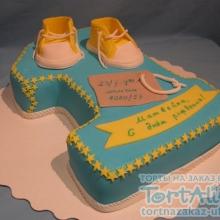 Торт единичка. №2