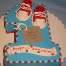 Торт единичка. №4