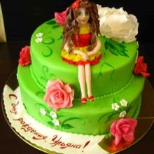 Торт Принцесса на полянке