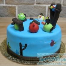 Торт Angry Birds 3