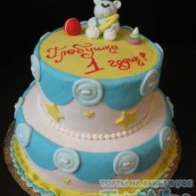 Торт на годик. 2 яруса