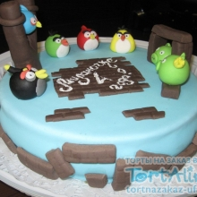 Торт Angry Birds. №4