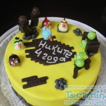 Торт Angry Birds. №5