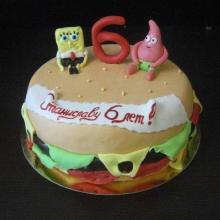 Гамбургер и Губка Боб