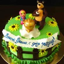 Торт Чаепитие Маши и Медведя
