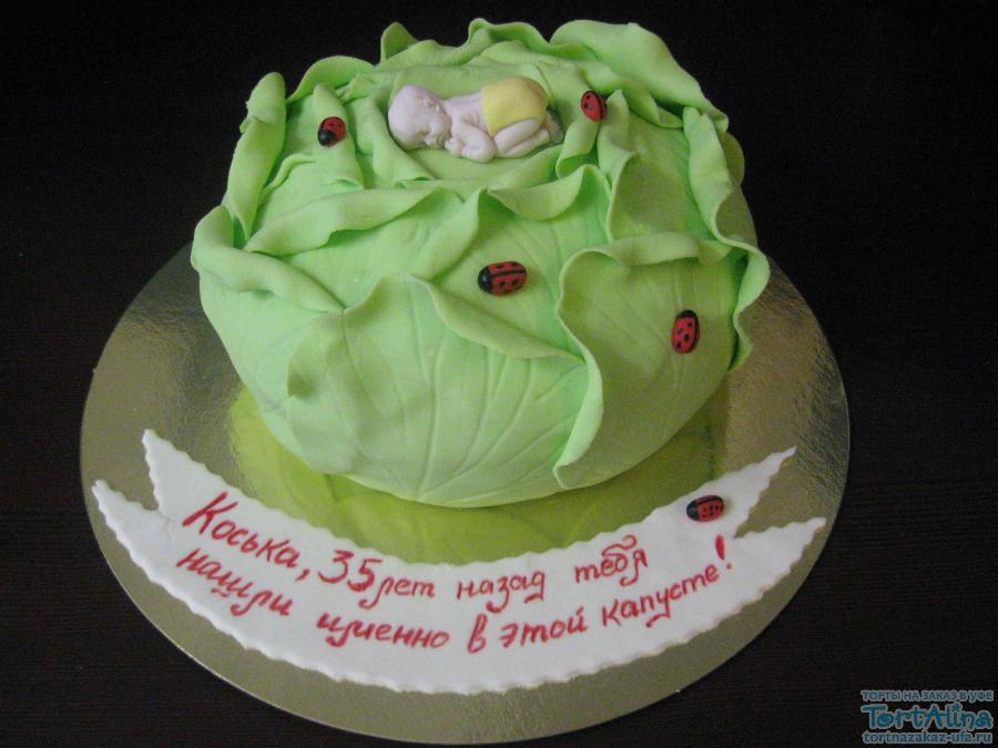 фото тортики малыш в капусте