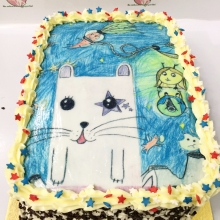 Торт с рисунком ребенка. Фототорт.