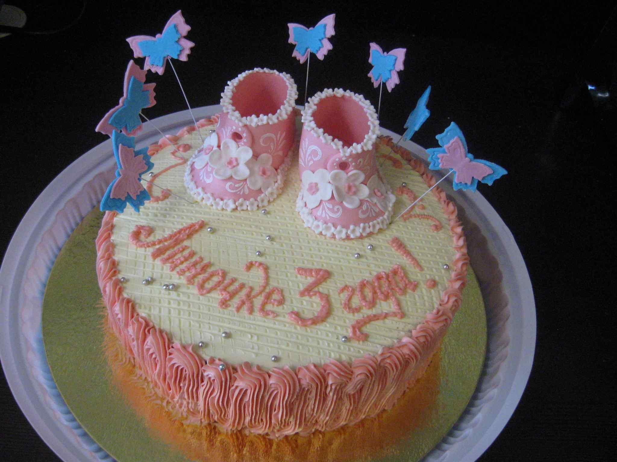 Украшение тортов кремом детские фото
