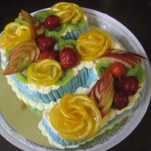 Кремовый торт №17