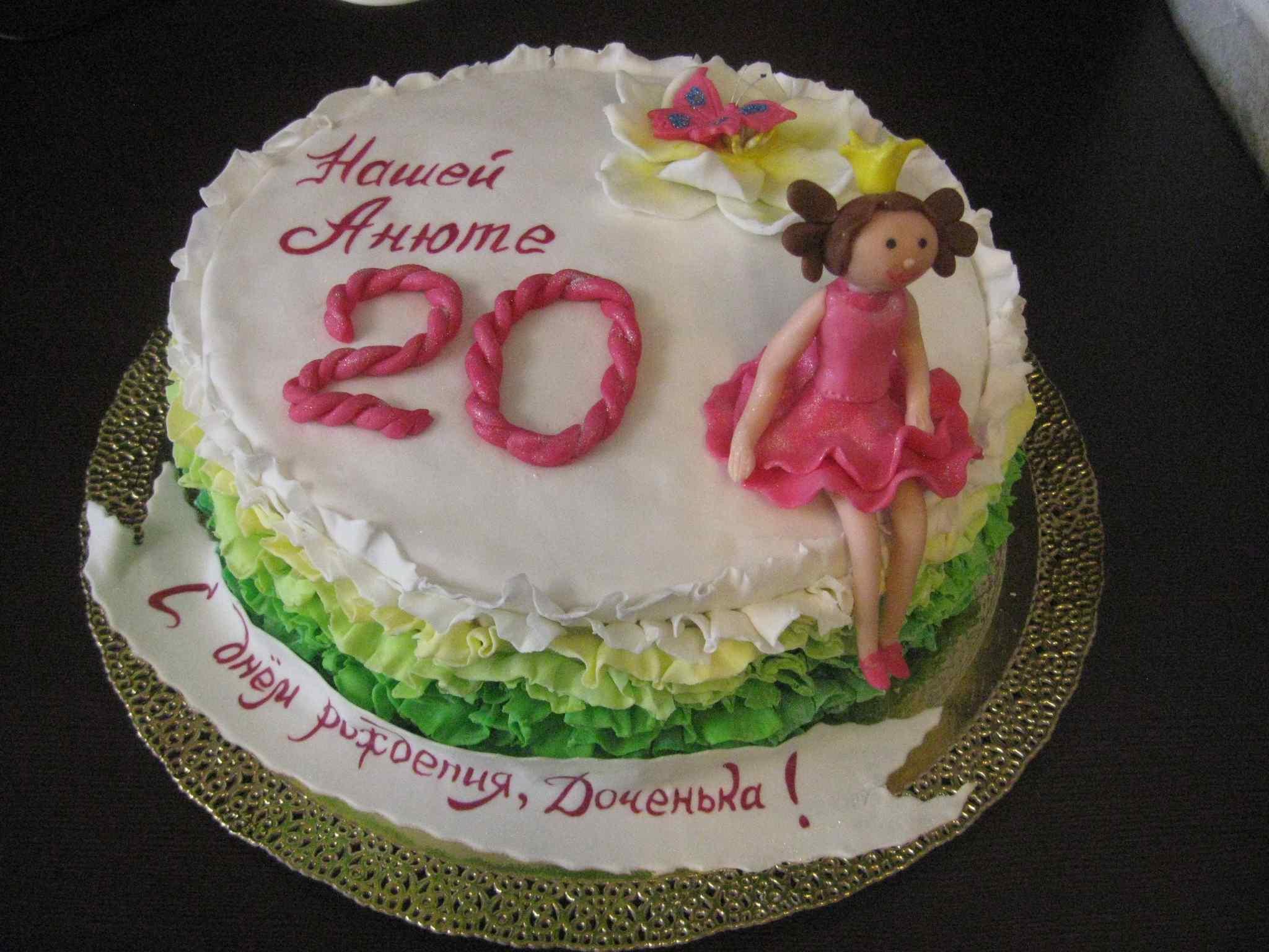 Украшение торта на 20 лет девушке фото