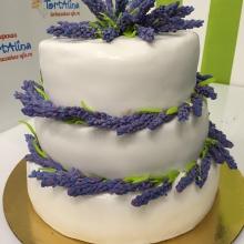 Торт свадебный в стиле прованс
