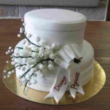 Торт свадебный №153
