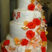 Торт Свадебный. №147. Авторский