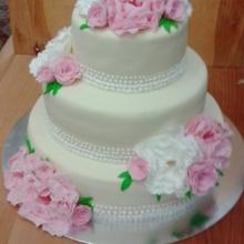 торт свадебный №152