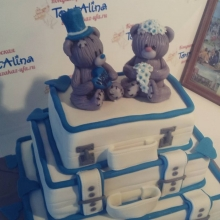 Торт свадебный с медведями