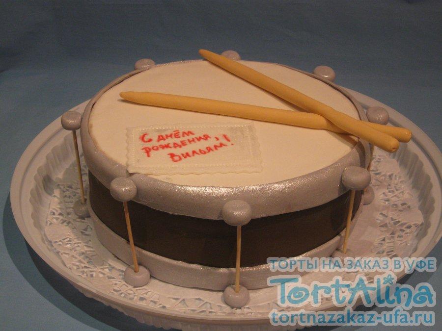 Торты в виде барабанов фото