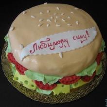 Торт-гамбургер