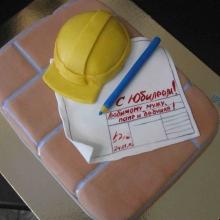 Торт Каска строителя