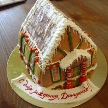 Торт Снежный дом