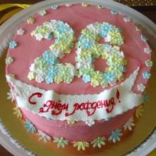 Торт Нежные цветы