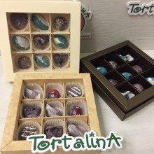 Шоколадные конфеты ручной работы набор 9