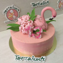 Розовый фламинго. Авторский
