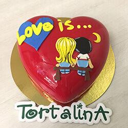 торт муссовый love is