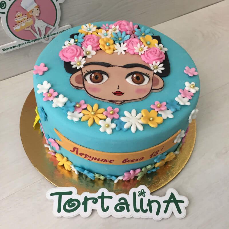 торт с аппликацией Фриды Кало