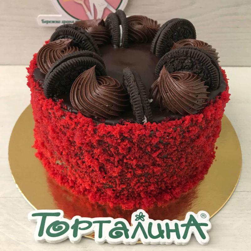 торт Брауни-карамель