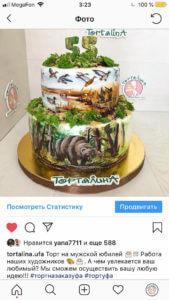отзыв торт с медведем