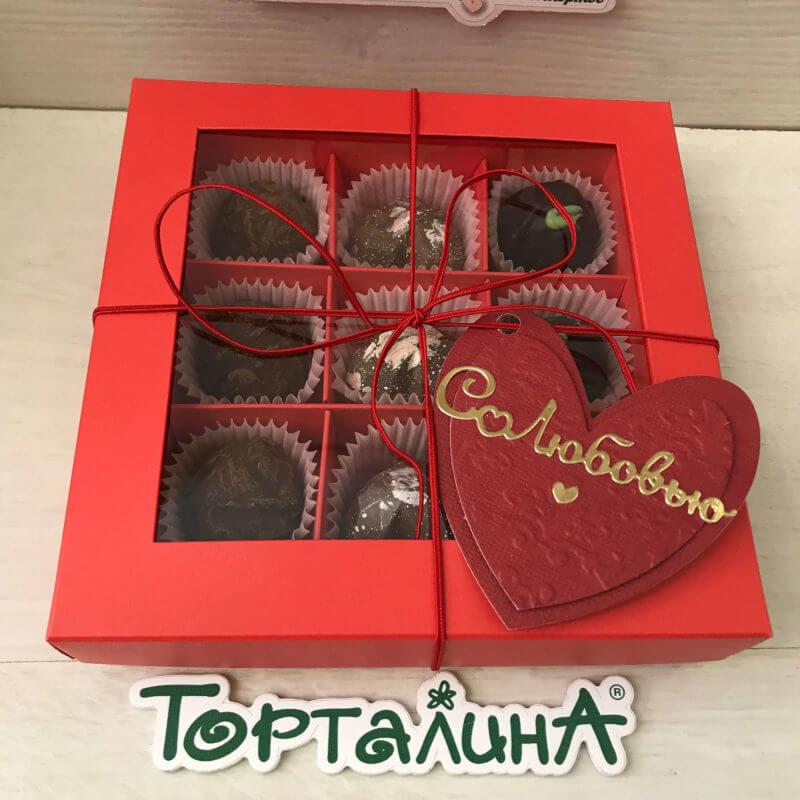 набор шоколадных конфет 16 штук