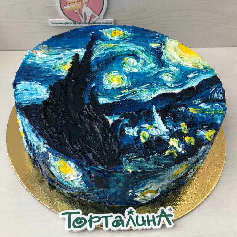 торт с картиной Ван Гога
