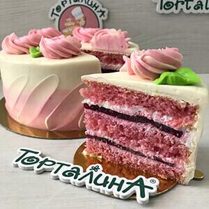 торт Прованс Роза в разрезе