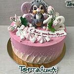 торт детский с зайкой