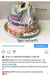 отзыв про торт Единорог