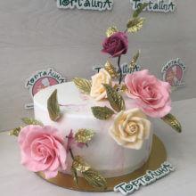 Розы с золотом. Премиум