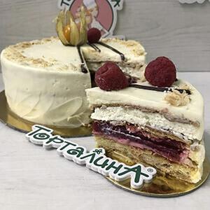 торт мильфей в разрезе
