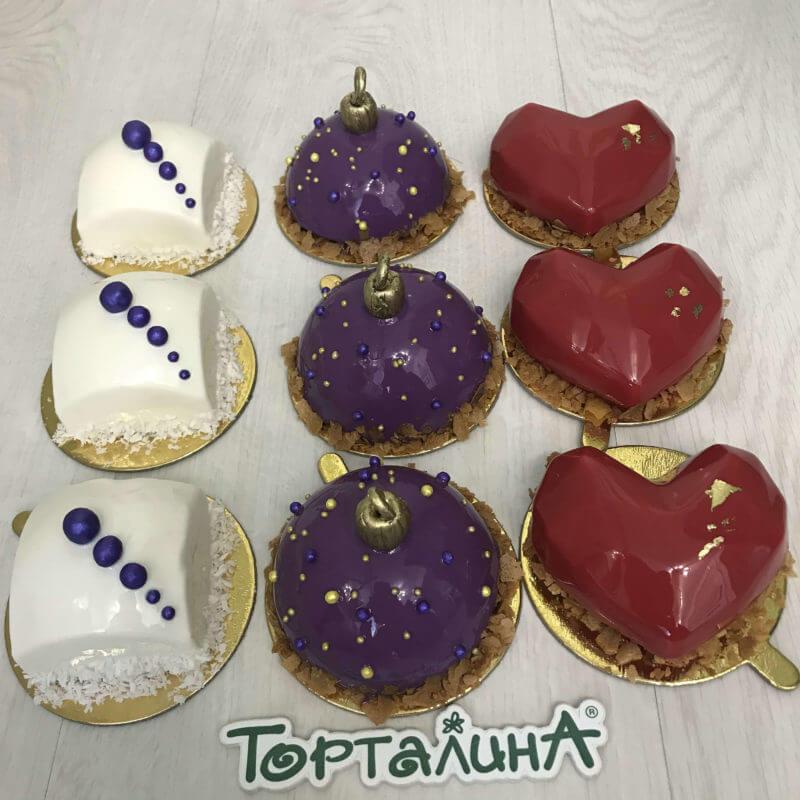 муссовые пирожные новогодние