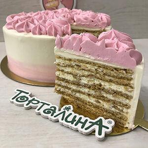 торт медовый с халвой Торталина