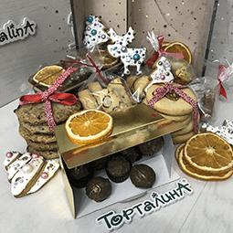 сладкий новогодний подарочный набор
