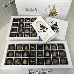 набор шоколадных конфет на новый год