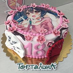 фото торт с сакурой