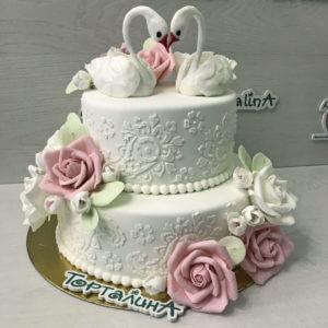 фото торт с лебедями