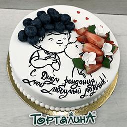 торт поцелуй