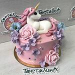 торт детский с единорогом