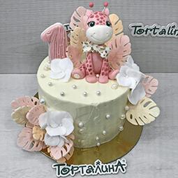 торт детский с жирафиком