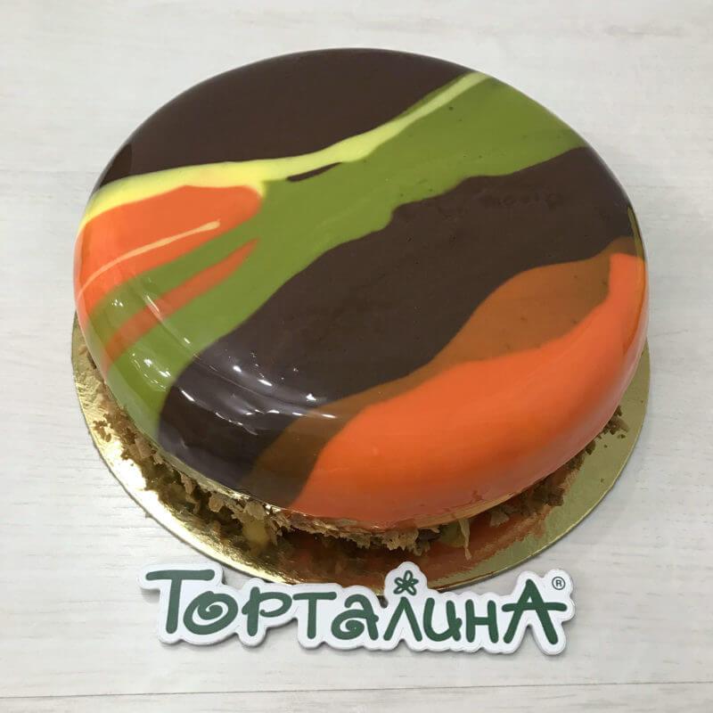 муссовый торт в стиле милитари